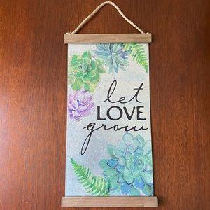 Succulent Wall Art - Let love grow